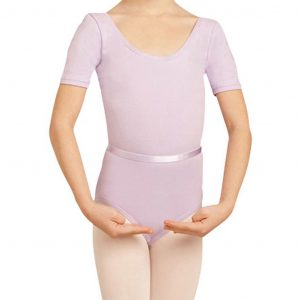 Short Sleeve Kids Leotard With Belt capezio