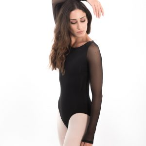 Strappy Back Long Sleeve Woman Leotard Capezio