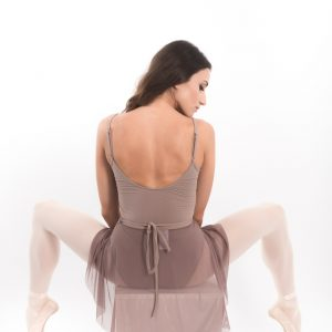 Leotard With Straps Woman mesh skirt Grishko