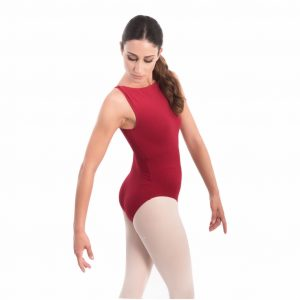 Boatneck leotard low cut capezio
