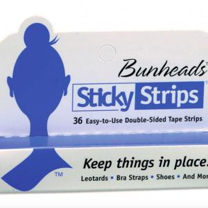 sticky strips bunheads