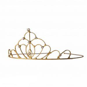 oval diamante tiara gold