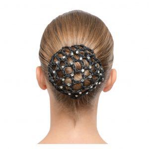 bun cover with diamantes