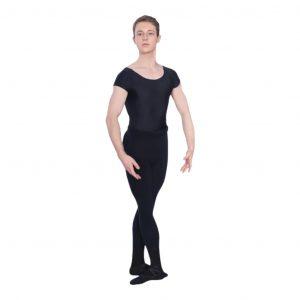 Male Cap Sleeve Scoop Neck Leotard ballet