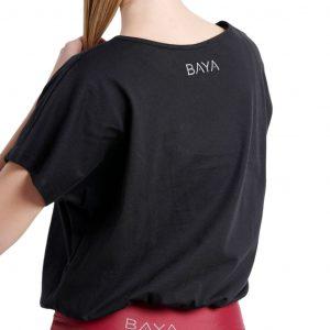 baya t shirt with elastic hem black