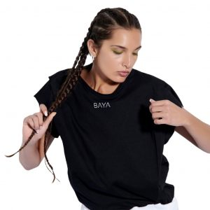 baya t-shirt with pleats black